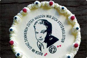 32 cm-Eistorte mit Logo & Portraitbild