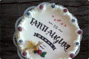 30 cm-Eistorte mit Banderolen-Motiv & Schriftzug